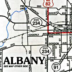 Albany and Dougherty, Georgia, America.