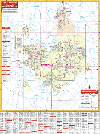 Bartlesville WALL Map, Oklahoma, America.
