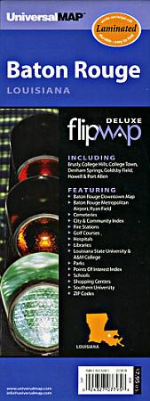 """Baton Rouge """"Flipmap"""" Louisiana, America."""