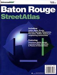 Baton Rouge Street ATLAS, Louisiana, America.