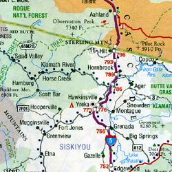 California Road and Tourist Map, America.
