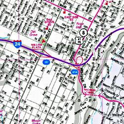"Chattanooga ""Flipmap"", Tennessee, America."