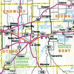 "Colorado, ""Flipmap"" Road and Tourist Map, America."