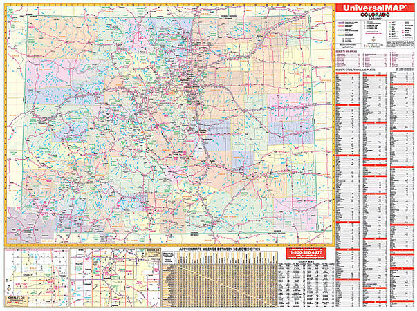 Colorado WALL Map.