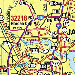 """Florida """"Northeastern"""" Road and Tourist map."""