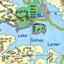 Georgia WALL Map, America.