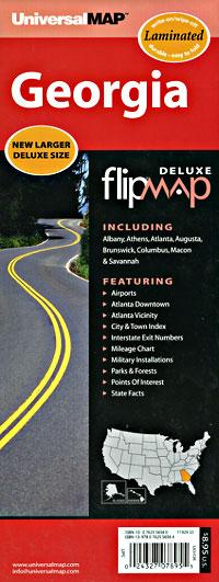 "Georgia ""Flipmap"" Road and Tourist Map, America."