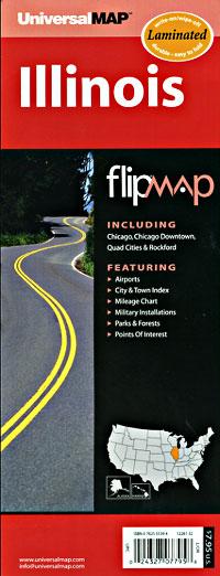 "Illinois ""Flipmap"" Road and Tourist Map, America."