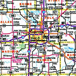 "Iowa ""Flipmap"" Road and Tourist Map, America."