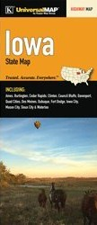 Iowa Road Map, America.