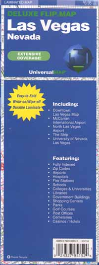 "LAS VEGAS ""Flipmap"" Las Vegas, America."