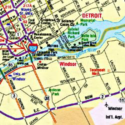 "Michigan ""Flipmap"" Road and Tourist Map, America."