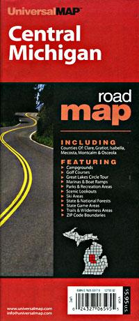 "Michigan ""Central"" Road and Tourist Map, America."