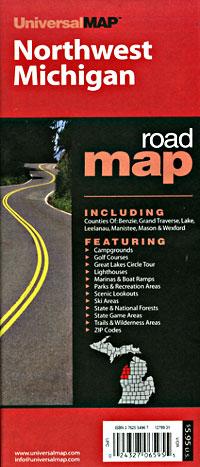 "Michigan ""Northwest"" Road and Tourist Map, America."