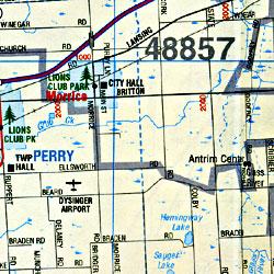 "Michigan ""Saginaw Valley"" Road and Tourist Map, America."