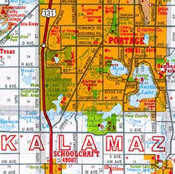"Michigan ""Southwest"" Road and Tourist Map, America."