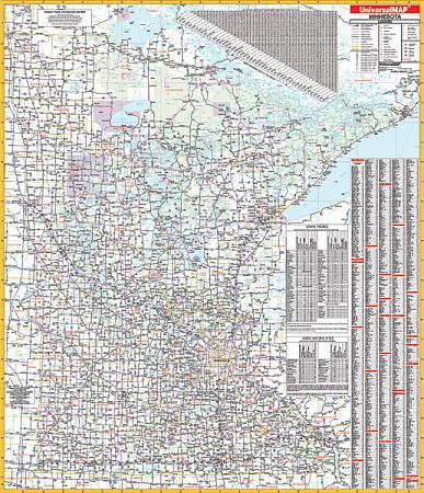 Minnesota WALL Map.