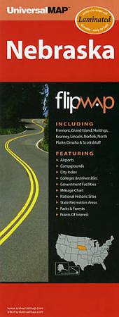 "Nebraska ""Flipmap"" Road and Tourist Map, America."