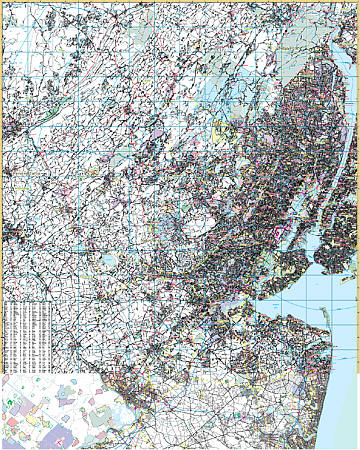 New Jersey North Vicinity WALL Map.