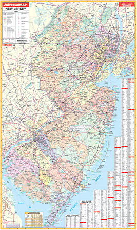 New Jersey WALL Map.
