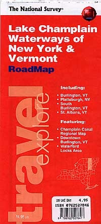 New York State Road and Tourist Map, America.