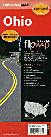 "Ohio ""Flipmap"" Road and Tourist Map, America."