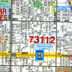 "Oklahoma City ""Flipmap"", Oklahoma, America."