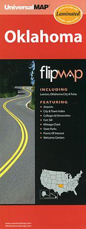 "Oklahoma ""Flipmap"" Road and Tourist Map, America."
