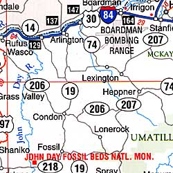 "Oregon ""Flipmap"" Road and Tourist Map, America."