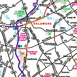 "Pennsylvania ""Flipmap"" Road and Tourist map."