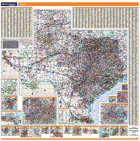 Texas WALL Map.