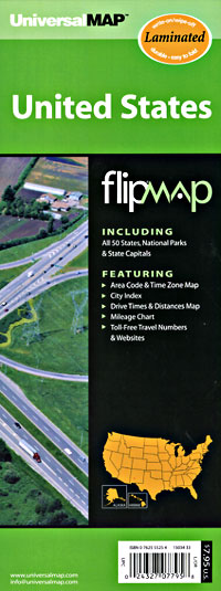 """United States """"Flipmap"""" Road and Tourist Map."""