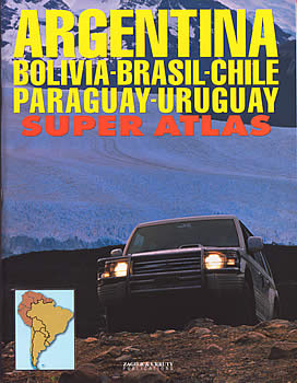 Argentina, Brazil, Chile, Paraguay, and Uruguay, Tourist Road ATLAS.