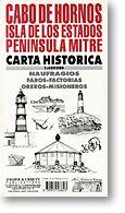 Cabo De Hornos Historical Map, Chile.