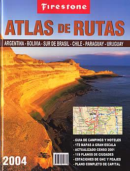 "Southern Brazil, Chile, Argentina, Paraguay, and Uruguay, Tourist Road ATLAS (""Firestone Atlas de Rutas"")."