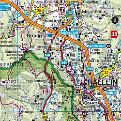 Austria Large Shaded Relief Tourist Road ATLAS.