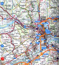 Austria Shaded Relief Tourist Road ATLAS.