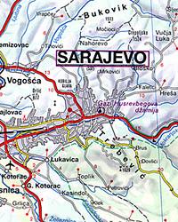 Bosnia and Herzegovina, Road and Tourist Map.