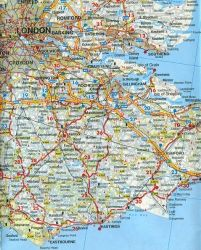 Freytag-Berndt Road Map of Great Britain, Travel, Tourist, Detailed.