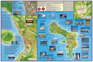 Bonaire Guide and Dive Road and Recreation Map.