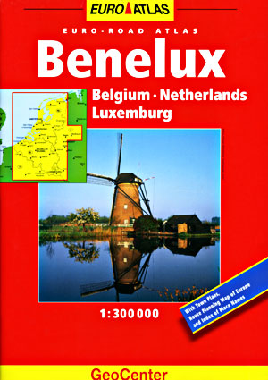 Belgium, Luxembourg, and the Netherlands Tourist Road ATLAS.