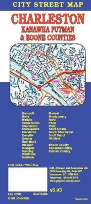 Charleston City Street Map, West Virginia, America.