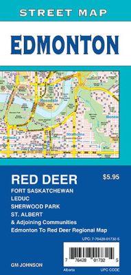 Edmonton, St. Albert, Sherwood Park and Red Deer City Street Map, Alberta, Canada