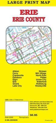 Erie County City Street Map, Pennsylvania, America.