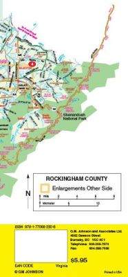 Harrisonburg & Rockingham County City Street Map, Virginia, America.