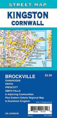 Kingston, Cornwall, Brockville and Smith Falls City Street Map, Ontario, Canada.