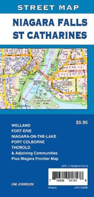 Niagara Falls, St. Catharines, Welland and Fort Erie,City Street Map, Ontario, Canada.