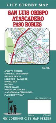 San Luis Obispo, street map, California, America.