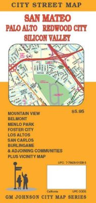 San Mateo, City street map, California, America.