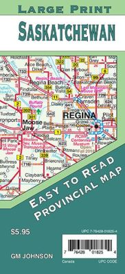 Saskatchewan Large Print Province Map, Canada.